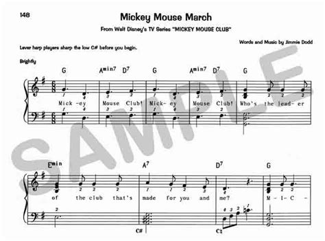 mickey mouse song sylvia woods harp center disney books pdfs 76 disney songs for the harp book by