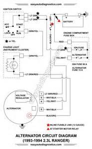 part 2 1992 1994 2 3l ford ranger alternator wiring diagram