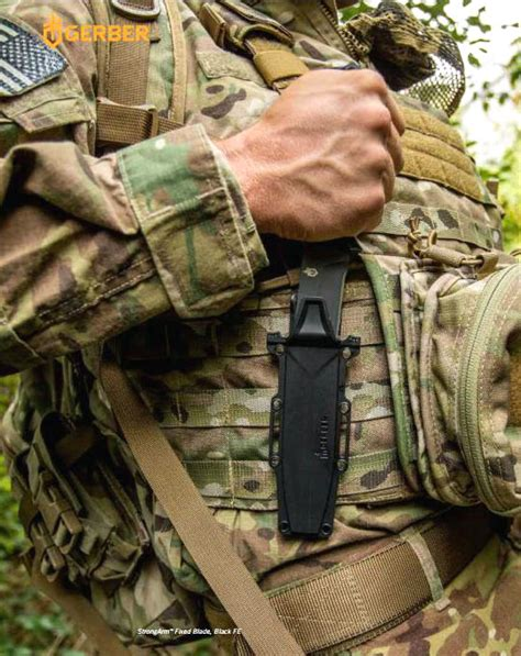 Gerber Prodigy Tactical Combat Knife Black W Molle Sheath 22 skl diy uptown ii review gerber strongarm fixed blade