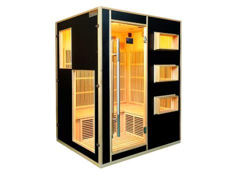 sauna infrarouge 3 4 places gamme prestige mikeli iii noir