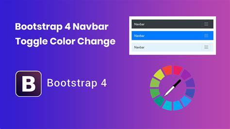 bootstrap navbar color bootstrap 4 navbar toggle color change codecorns