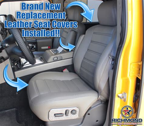 hummer  leather seat covers driver side complete set black richmond auto upholstery