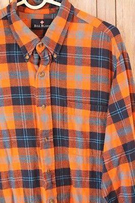 Topping Flanel Orange navy blue plaid shirt mens shirts rock