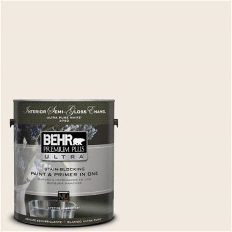 behr premium plus ultra 1 gal 1812 swiss coffee semi gloss enamel interior paint 375001 the