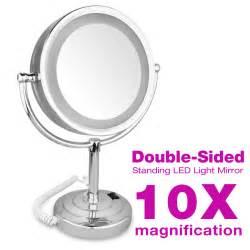 Light Up Bathroom Mirror Standspiegel Kosmetikspiegel Led Beleuchtet Schminkspiegel