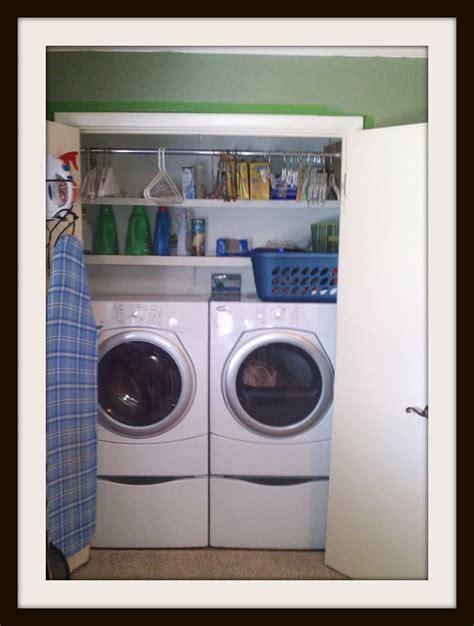 Laundry Closet Organizer by Stokes Photography Laundry Closet Organization