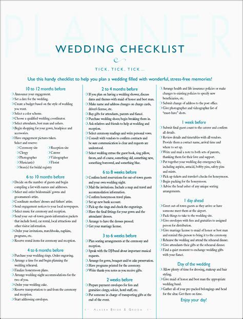 10 Planning A Wedding Checklist Template Online