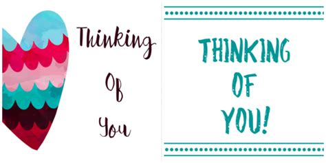 free thinking of you card template free printable thinking of you cards cultured palate