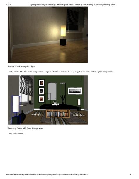 tutorial vray sketchup parte 1 lighting with v ray for sketch up definitive guide part