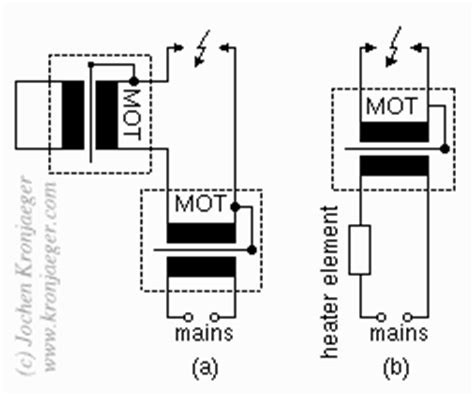 resistor in series with transformer primary using step up transformers as ballast by shorting the secondary electronicsxchanger