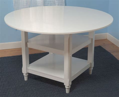 simple living cottage white dining table