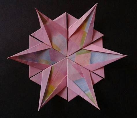 Easy Snowflake Origami - 112 best origami images on
