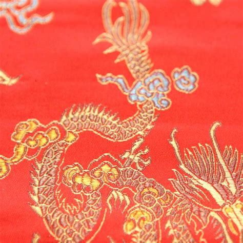 chinese pattern fabric uk chinese oriental gold dragon embroidered brocade silky