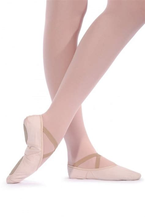 roch valley w2ssc wide fit split sole canvas ballet shoes