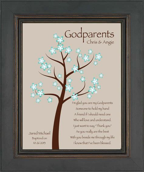 awesome godparents godparents gift 8x10 print personalized gift for godmother and godfather gift from godchild