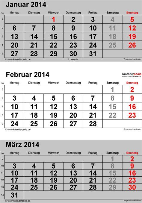 drei monats kalender zum ausdrucken kalender