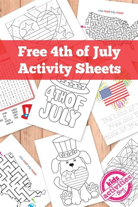 4th of july coloring pages preschool free 4th of july kids activity printables trips