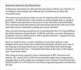 retirement speech template speech exles 23 free documents in pdf word