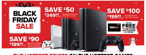 Ps4 Black Friday Gift Card - gamestop black friday playstation 4 1tb console 50 gift card for 199 99