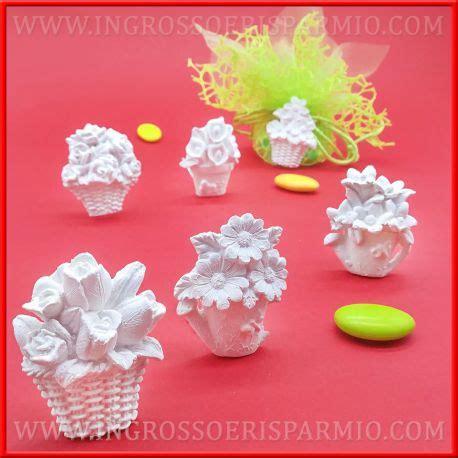 fiori per bomboniere fai da te vasi con fiori di gesso bomboniere economiche fai da te