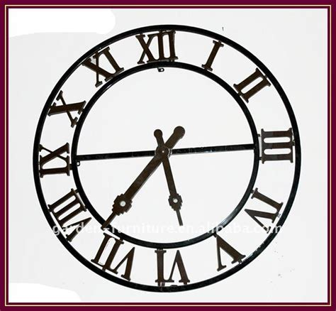 decorative metal wall clocks industrial style home