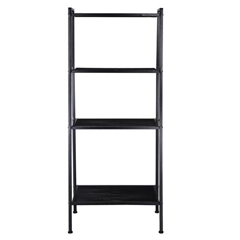 A Frame Ladder Bookcase 4 Tier Ladder Bookcase Metal Frame Book Shelf Storage Rack Floor Stand Color Opt Ebay
