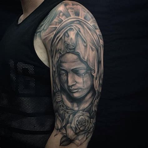 virgin mary tattoos for men 75 best spiritual designs meanings