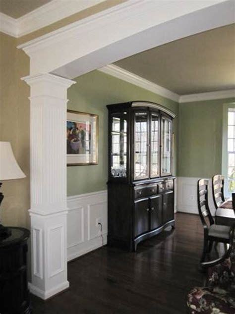 Homebase Dining Room Doors Dining Room With Custom Millwork Archway Chair Rail And