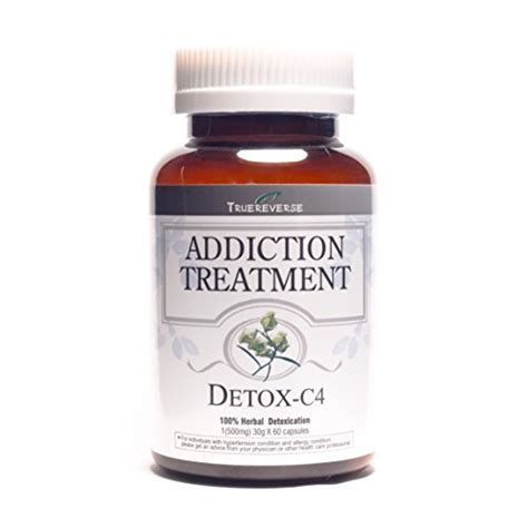 Herbal Meth Detox Aids by Truereverse Detox C4 Addiction Treatment 500mg 60 Capsules