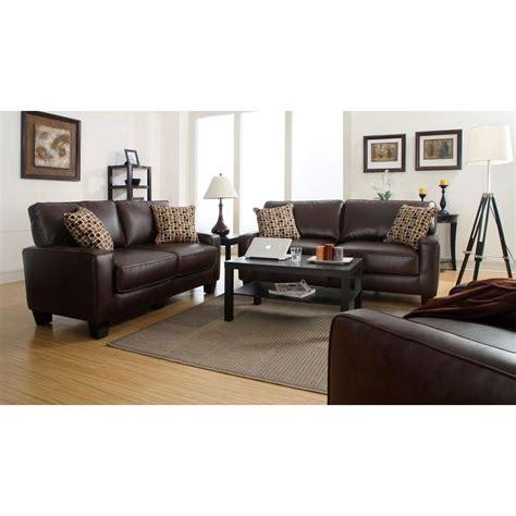 espresso brown leather serta rta monaco biscuit brown espresso faux leather sofa