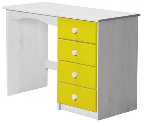 bureau enfant pin massif bureau enfant pin massif blanc et jaune aladin