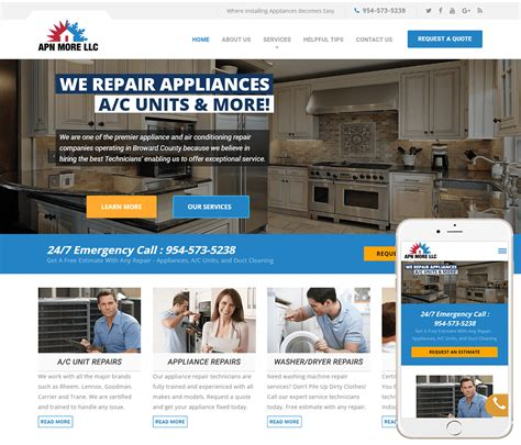 home repair sites repair sites appliance repair website designer top converting websites