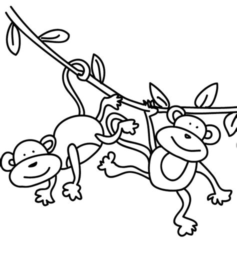 ten little monkeys coloring page five little monkeys coloring page coloring pages for free