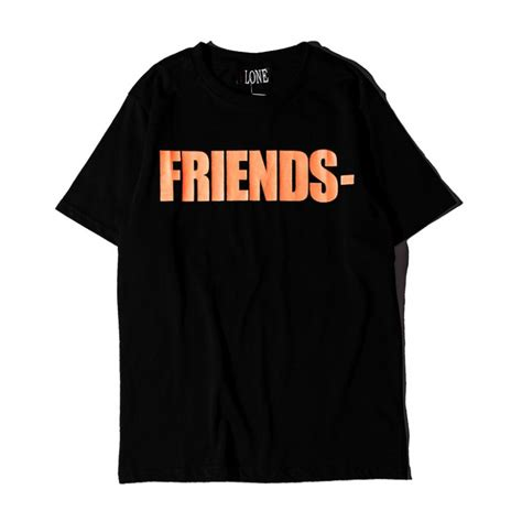 Friends T Shirt vlone friends t shirt black