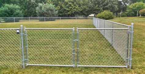 chain link swing gate residential chain link fence swing gates single or double