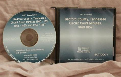County Tennessee Court Records Bedford County Tennessee Circuit Court Minutes June 1840 April 1857