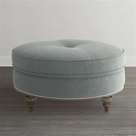 round ottoman furniture custom round ottoman bassett furniture
