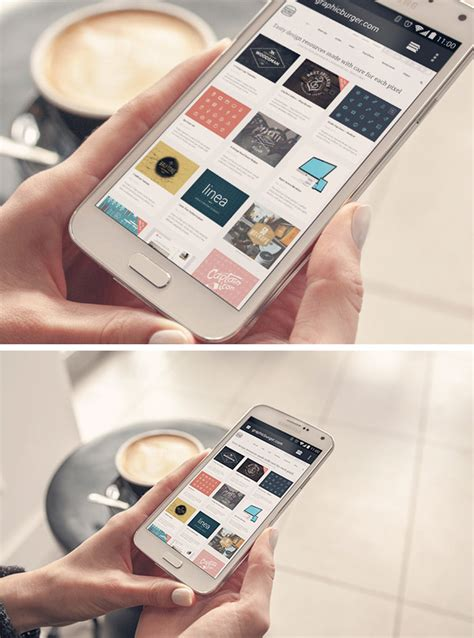 android mockup android phone psd mockup graphicburger