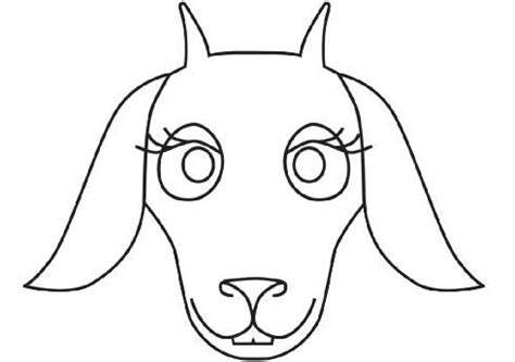 goat template printable goat mask colouring pages school library ideas