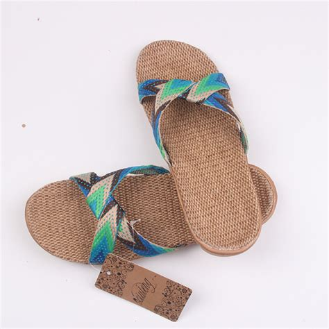 belt slippers for 2017 fashion flax home slippers slippers indoor floor