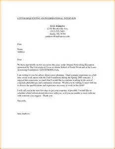 Informational Interview Report Sample 10 Cover Letter For Interview Appeal Letters Sample