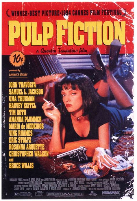 quentin tarantino film posters pulp fiction the soul of the plot