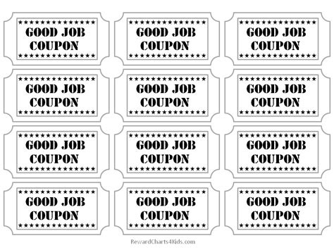 free printable job tickets free good job sticker printables print on paper and