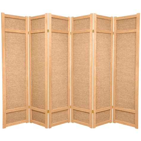 6 ft 6 panel room divider jkshoji nat 6p the