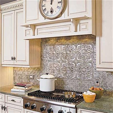 best 25 tin tile backsplash ideas on kitchen