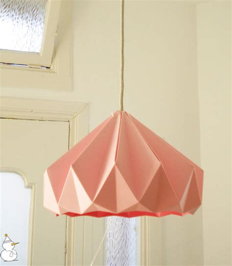Folded Paper L Shade - chestnut paper origami lshade pink by studio snowpuppe