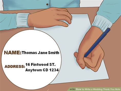 how to write wedding thank you notes for gift cards how to write a wedding thank you note 15 steps with pictures