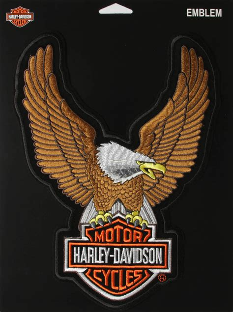 Harley Davidson Hd6089 Brown White harley davidson large brown eagle patch the cheap place