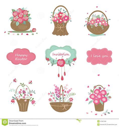 design elements set set of floral design elements stock vector image 47667049