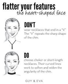 Dos And Donts For Heart Face Shapes | 1000 images about style tips on pinterest jewelry